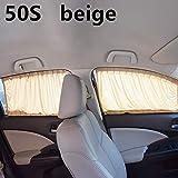 DeemoShop 2pcs/Set Aluminum Alloy Elastic Car Side Window Sunshade Curtains Auto Windows Curtain Sun Visor Blinds Cover car-Styling S,M,L