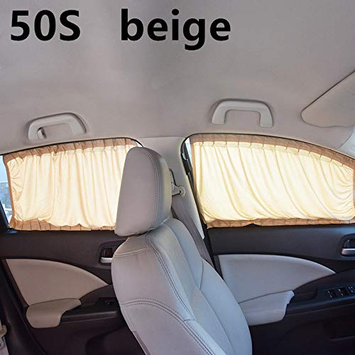 72afd15abab0 DeemoShop 2pcs/Set Aluminum Alloy Elastic Car Side Window Sunshade Curtains  Auto Windows Curtain Sun Visor Blinds Cover car-Styling S,M,L