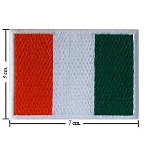 Cote d Ivoire bandera de nación Style-1bordado hierro o coser en parche por Wonder Fullmoon