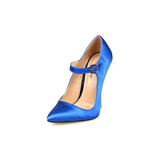 Tac��n Con Para Sola Punta Talla Tama 40 En 46 De 49 Alto O color Zapatos Azul Bomba Mujeres 5Xxw8nRU8q