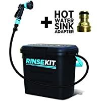 [Patrocinado] RinseKit Portable Shower with Hot Water Sink Adapter