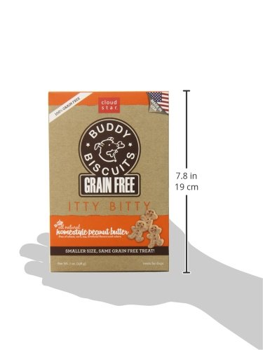 693804283504 - Cloud Star Grain Free Itty Bitty Buddy Biscuits in a Bag, 7-Ounce , Homestyle Peanut Butter carousel main 4