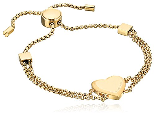 Michael Kors Fashion Gold-Tone Heart Slider Bracelet