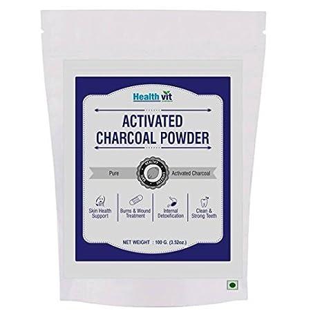 HealthVit activado carbón natural dientes blanqueamiento polvo 100 g o 250 g Premium grado alimentario activado carbón