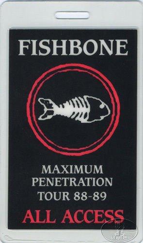 Fishbone 1988-89 Tour Laminated Backstage Pass]()