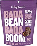 Enlightened Bada Bean Bada Boom Plant Protein Gluten Free Roasted Broad (Fava) Bean Snack, Cocoa Dusted, 3 ounce (Pack of 6) Review