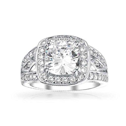 Bling-Jewelry-Plata-Esterlina-CZ-4K-de-poca-Anillo-de-Compromiso