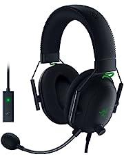 Razer BlackShark V2 Gaming Headset: THX 7.1 Spatial Surround Sound - 50mm Drivers - Detachable Mic - for PC, PS4, Nintendo Switch - 3.5 mm Headphone Jack & USB DAC - Classic Black