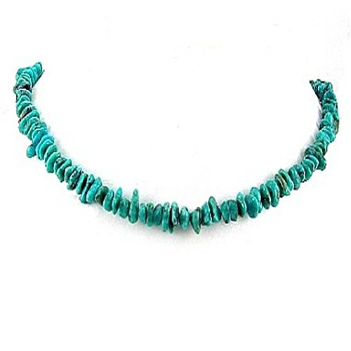 Timeless Treasures - Mens Genuine Turquoise Chips Beaded Necklace - 24