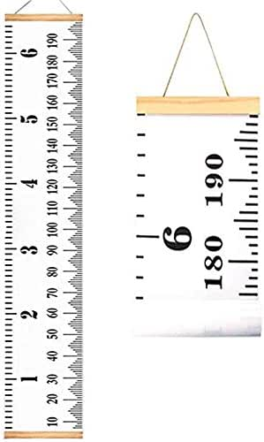 Growth Charts for Kids,Accurate Baby Height Growth Chart Ruler,Removable Canvas Wall Hanging Measurement Chart for Home Decoration