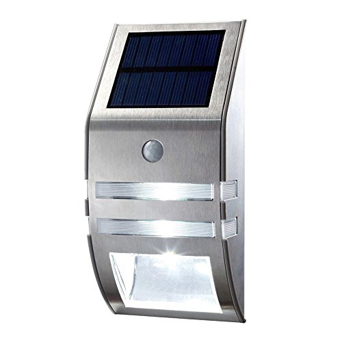 LED Solar Light Outdoor Waterproof Wireless Motion Sensor Light Stainless Steel Bright Solar Powered Wall Light For Garden Corridor Patio Path by BOXIN