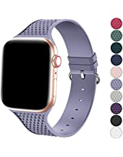 Bandiction Sport Bands Compatible with Apple Watch Bands 38mm 40mm 42mm 44mm, Silicone Sport Watch Strap for iWatch Bands Women Men Sport Bands Compatible for Apple Watch Band Series 6 SE 5 4 3 2 1