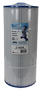 "Aqua Kleen AK-70013 Unicel Filter Cartridge for Swimming Pool & Spa, White, 10.5"" x 10.5"" x 21"""