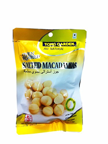 3 Packs of Oven Roasted Salted Macadamias By Tong Garden. Zero Trans Fat, Zero Cholesterol, Low Sodium, Rich in Fiber. (75 G/ (Costume Jobs)
