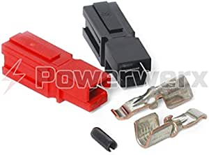 Powerwerx PP45-10 45 Amp Unassembled Red/Black Anderson Powerpole Connectors - 10 Sets