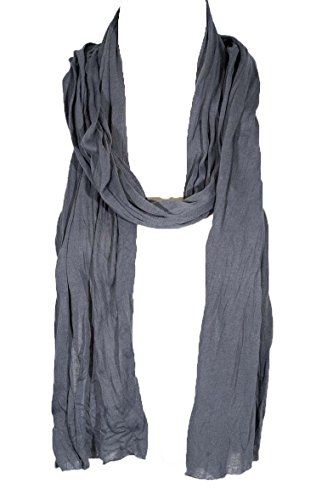 "Plain Color Scarf, more than 30 colors, 76"" long, 14"" wide (#030 Charcoal Grey)"