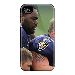 Anti-Scratch Cell-phone Hard Cover For Iphone 4/4s With Support Your Personal Customized Attractive Baltimore Ravens Pictures AaronBlanchette