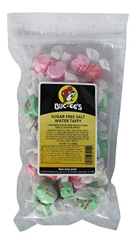 Buc-ee's Sugar Free Assorted Gourmet Salt Water Taffy in a Resealable Bag, 8 -