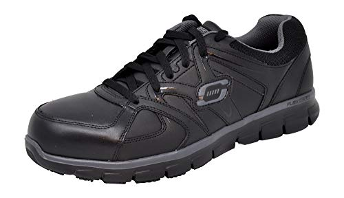 Skechers for Work Men's Synergy Ekron Alloy Toe Work Shoe, Black, 9.5 M US ()