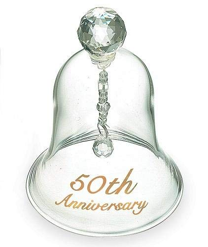 Wedding Bell Glass - Russ 50th Anniversary Glass Bell, 4-Inch