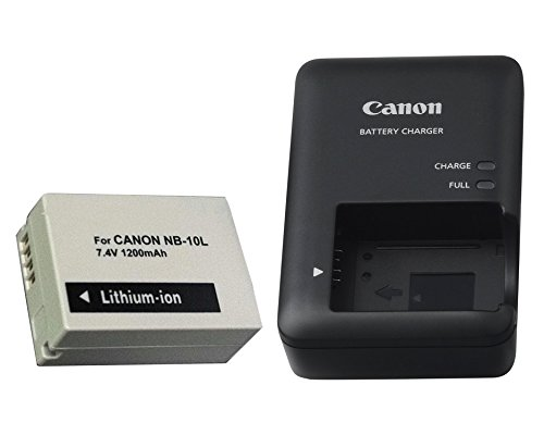 Excelshots, CB-2LC Battery Charger + Proffessional NB-10L Li-ion Battery Pack, for Canon PowerShot SX40 HS, SX50 HS, SX60 HS, G1X, G3X, G15, G16, Digital Camera. (Battery Sx50 Canon Powershot)