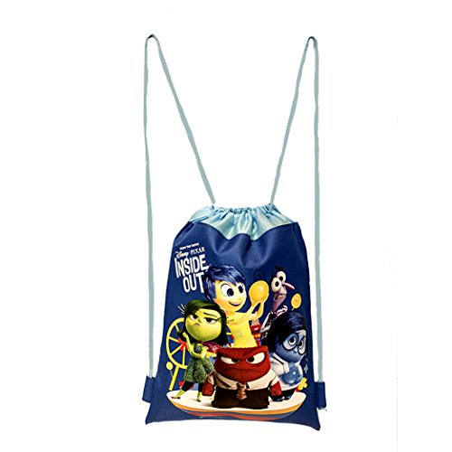 Disney Inside Out Authentic Licensed Drawstring School Bag Backpack (Blue)