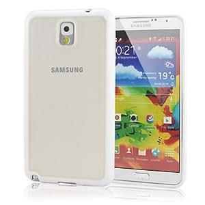 Leathlux Frame TPU Gel Skin Case Cover for Samsung Galaxy Note 3 III N9000 / N9005 White