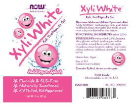 NOW Solutions XyliWhite Bubblegum Splash Toothpaste Gel for Kids, 3-Ounce
