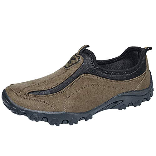 AgrinTol Fashion Walking Shoes Knit Breathable Lightweight Slip On Sport Running Sneakers -