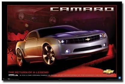 "Black Chevrolet Camaro Concept Poster 24/"" x 16/"""