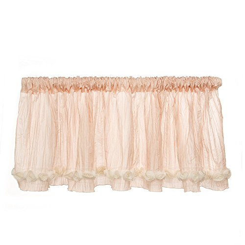 Glenna Jean Contessa Window Valance, Pink Crinkle with Roses from Glenna Jean
