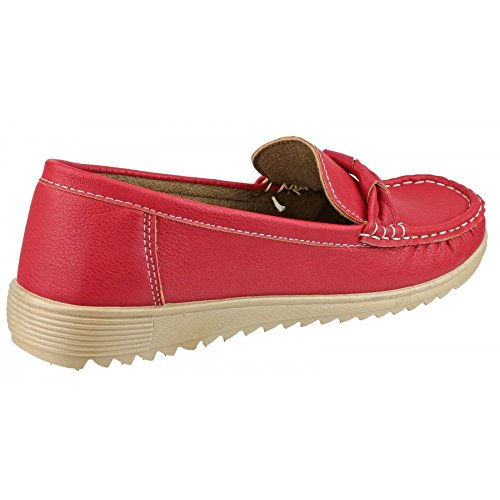 Amblers Paros Ladies Summer Shoe Red Red Size 41