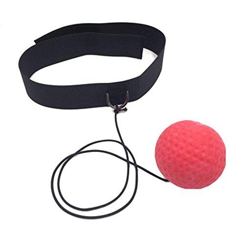 juqilu Ballon de Boxe pour La Formation de Vitesse Réflexe Punch Exercice Entraînement [améliorer les Réactions, Reflex Sight, Get Fit Plus rapide]