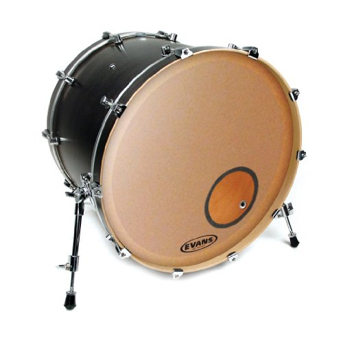 Evans EQ3 Resonant Frosted Bass Drum Head, 20 Inch