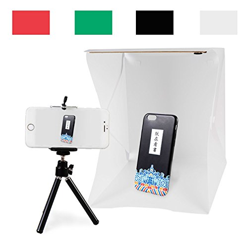 tography Anyprize mini folding portable photo studio, 4 color background cloth shooting tent kit (Camera Assistant Pouch)