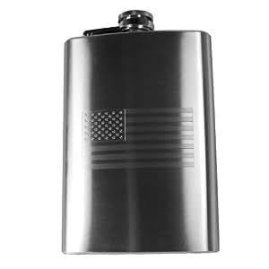 8oz USA Flag Hip Flask American Flag