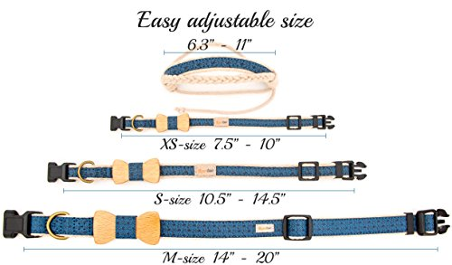 Pettsie-Dog-Collar-Bow-Tie-and-Friendship-Bracelet-for-you-Durable-Hemp-for-Extra-Safety-3-Easy-Adjustable-Sizes-Comfortable-and-Soft-Strong-D-Ring-for-Easy-Leash-Attachment