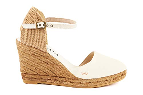 3 With Heel In Viscata Classic inch Spain Espadrilles strap Marfil Toe Made Closed Satuna Ankle 0wW7q80v