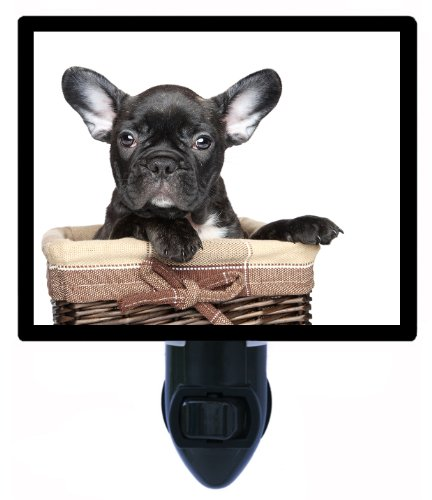 Dog Night Light - Black French Bulldog