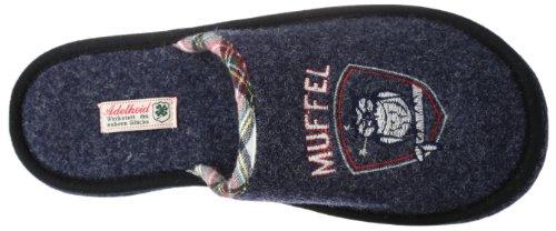 Adelheid Morgenmuffel Filzpantoffel - Pantuflas de fieltro hombre azul - Blau (steinblau 225)