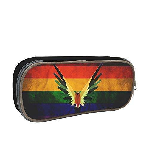 HUANG-PEN Student L-Ogan Paul Gay Pride Homecube Big Capacity Pencil Case Bag