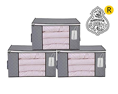 3 Piece Bamboo Charcoal Clothing Organizer Bags, Foldable for sale  Delivered anywhere in Canada