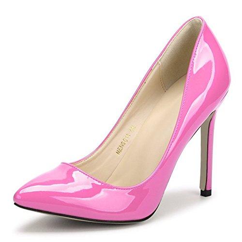A fereshte Dress Heels On Pointy Red Pumps Peach Toe Women's Stilettos High Slip vwTFrvSxq