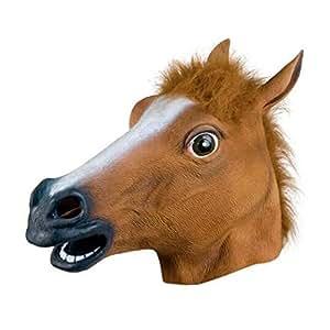 Halloween Costume Party Latex Animal Horse Head Mask