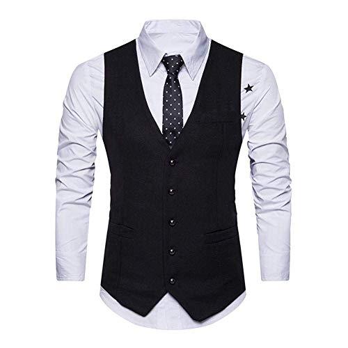 Tuxedo Gilet Leisure Schwarz Sposa Fashion Abito Da 1 Fit Business Modern Baomwool Uomo Slim Saoye Giovane Tvp5qwW