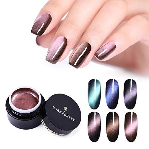 BORN PRETTY 5D Cat Eye Magnetic Gel Polish Starry Sky Soak Off UV Gel Nail Art Manicure Varnish 6 Colors Set