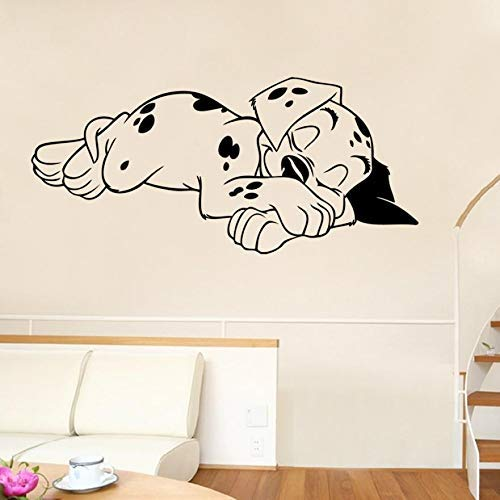 11 Sleeping Puppy Bedroom Wall Stickers Vinyl Home Decor Decals 2017 - Wall Sticker]()
