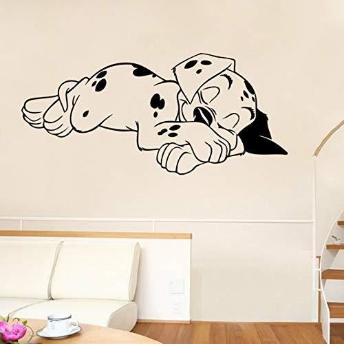 Assyrian 11 Sleeping Puppy Bedroom Wall Stickers Vinyl