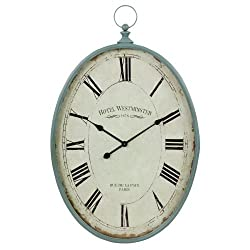 Aspire Wall Clock Sonia Oval, Blue