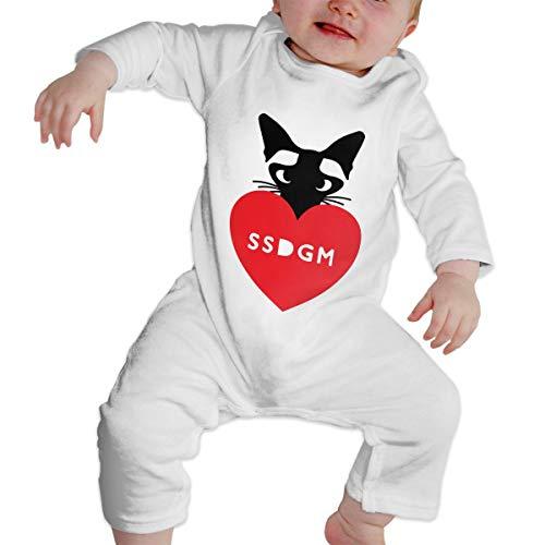 Mri-le1 Newborn Baby Bodysuits Elvis SAYS SSDGM Kid Pajamas -
